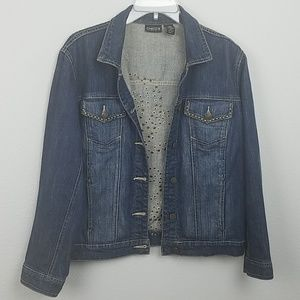 Chicos denim jacket size 1